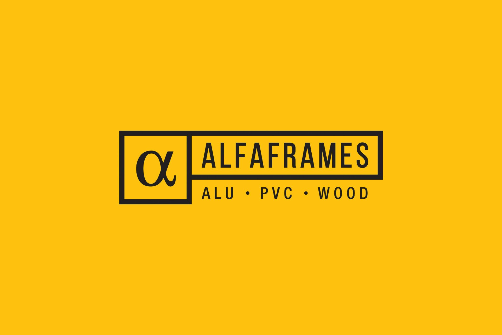 Picture Alfaframes Brand Identity
